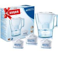 BRITA Aluna XL белая + 3 Maxtra